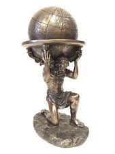 Atlas Carrying The World Statue Greek Titan Sculpture Figure - WE SHIP WORLDWIDE
