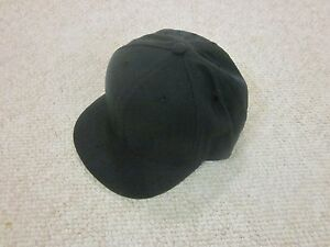 Pro UMPIRE Fitted Navy Blue Hat Cap Short Brim Plain NWOT