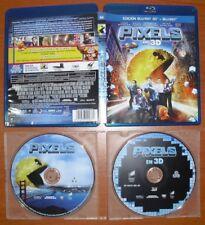 Pixels [Blu-Ray 2D + 3D & Region Free A B C] Adam Sandler, Peter Dinklage
