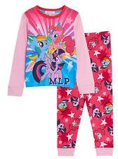 Girls My Little Pony Pyjamas Kids Rainbow Dash Long Pjs Nightwear Loungewear Set