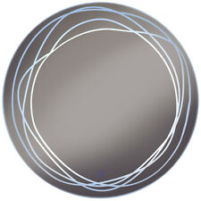 LED Illuminated 70cm Circular Wall Mirror Light with Demister Dimmer - SP1235