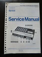 Original Service Manual  Philips  Clock Radio Cassette Recorder 90ARC16