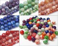 Achat Dragon Veins 8mm Natur Perlen Edelsteine Schmucksteine Agate Wählen