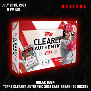 2021 Clearly Authentic Bb 20 Hobby Box Full Case Break 7/28 8 PM EST - Orioles