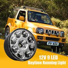 2x 9 LED DRL Round Daytime Running Light Bright White Car Fog Lights Lamp 5050