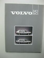 Volvo 340 360 prestige brochure Prospekt Dutch text 40 pages 1985