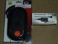 Sony Psp Slim 2000 Kit de paquete de accesorios de 3000 Carcasa De La Consola Cargador de red! totalmente Nuevo!