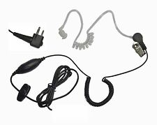 Clear Earbud Microphone for Motorola 2 Pin Radios including CP200 CP185 P110