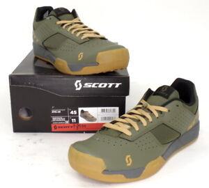 Scott MTB AR Mountain Bike Flat Pedal Shoes Moss Green Men's Size 11 US / 45 EU