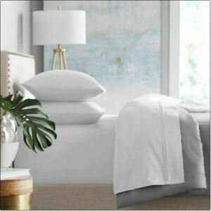 NWT HOTEL PREMIER COLLECTION White 650 Thread Count 6 Piece King Sheets