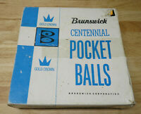 Box Only Brunswick Centennial Pocket Balls Gold Crown Vintage Belgium - NO BALLS