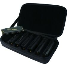 Hohner Piedmont Blues Seven Piece Harmonica Set with Case 7 Harmonicas Harp Pack