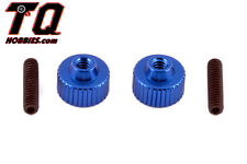 Team Associated B4 T4 SC10 Aluminum Battery Strap Thumbscrews (Blue) ASC1787
