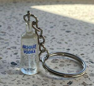 Absolut Vodka Alcohol Bottle Keyring Keychain Novelty Christmas Gift
