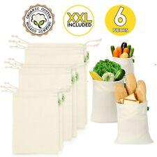 Reusable Produce Bags, Set of 6 XXL 21x13