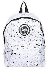 Hype Mens/Boys Crest Embroidered White With Black Speckle Backpack
