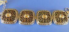 Brighton  NWT GALA Silver Gold Crystal Bracelet - $82