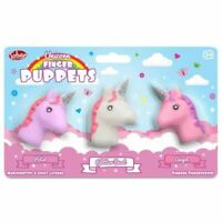 Silicone Unicorn Head Shaped Finger Puppets Set of 3 - Roleplay