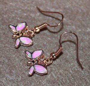 fire opal earrings gemstone silver rose gold filled jewelry petite Dragonfly