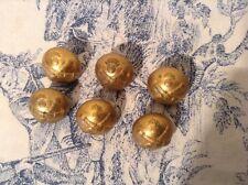 6 Vintage French Parisien Metal Buttons, Military Uniform Buttons Paris (2881b)