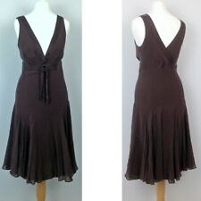Ted Baker Silk Fit & Flare Floaty Dress Size2 UK8-10 Prom Wedding Ascot Races