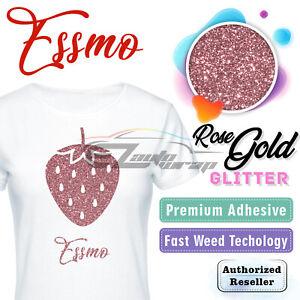 "Rose Gold Glitter Heat Transfer Vinyl HTV T-Shirt 20"" Iron On Heat Press DG25"