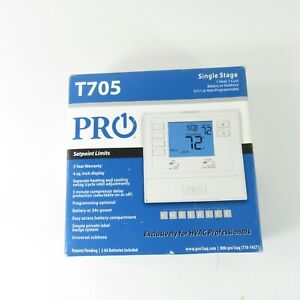 PRO1 Model T705 Programmable 1 Heat-1 Cool Electronic Thermostat