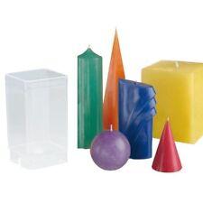 GLOREX Kerzen-gießform Viereck transparent