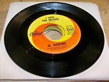 MEGA Lot of (38) Al Martino 45s - Various labels  (1) w/PS