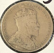 1907 ~ CANADA ~ 50 CENTS ~ KING EDWARD VII ~ VG8 condition