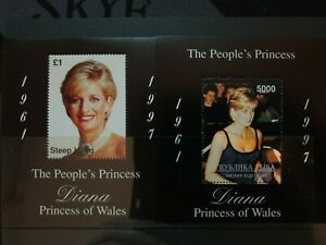 2 princess Diana (Cinderellas) 1997 stamps