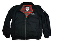 Lonsdale Heavy Winter Harrington Jacket Black Melton England Style Slim-Fit Wool