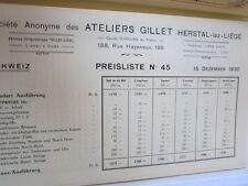 Motorrad Archiv Edition Faksimile 1093E Gillet Herstal Modelle 1931 Prospekt