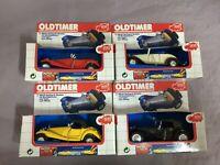 4 Dickie Oldtimer Cabrio Metall-Spritzguss-Modellautos Vintage Toys Ovp ca 1:32