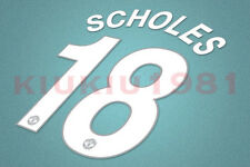 Manchester United Scholes #18 2008-2011 CL Homekit Nameset Printing