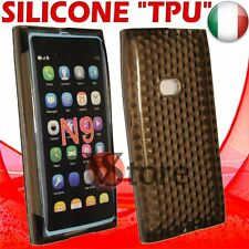 Cover Custodia Per Nokia N9 Nero Gel Silicone TPU Case Diamond Black