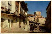 Santillana del Mar Spanien Espana 1958 River Street Kirche Church Straße Häuser