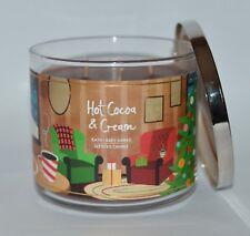 Bath&Body Works Caliente Cacao Crema Vela Perfumada 3 Wick 429ml Navidad Grande