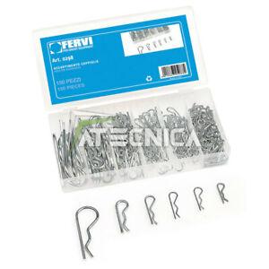 Assortimento kit coppiglie di sicurezza 150p FERVI 0298 in oraganizer di plastic