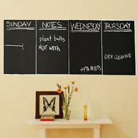 4pcs Chalkboard Black Contact Paper Wall Sticker Decal Erasable 20x30cm