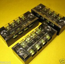 Terminal Block x3 4way x2 Screw Covered Barrier Strip 15A Solar 12V LED Lighting