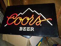 Coors Electric Indoor Sign 16 X 26 KCS INDUSTRIES