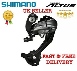 Genuine Shimano Rd-M370 Altus 9 Speed Rear Derailleur Long Cage Grey/Black