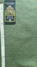 Lime Green Herringbone Handwoven Manx Tweed Fabric 3m 100% Wool