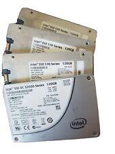Lot of 3 +1 Intel SSD 530 Series 120GB and DC S3500 120GB SSD Drives Free Ship