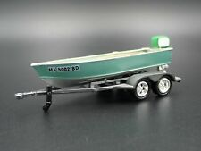 VINTAGE FISHING BOAT ON TRAILER 1/64 SCALE DIORAMA PROP COLLECTIBLE MODEL BOAT