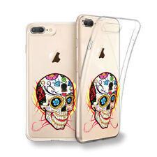 Funda gel dibujo Calavera Mexicana para Iphone 6 7 8 plus X Xs Xs MAX XR