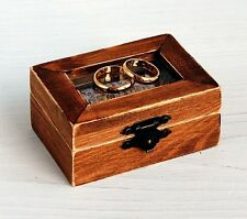 Wedding ring box, Ring bearer box, Wooden Wedding Box, Rustic Wedding Box