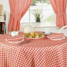 Red Check Gingham Table Cloth~Round Emma Barclay Hathaway Collection