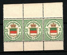 More details for heligoland qv stamps sg.12 3pf 2½ farthing (1876) 3 umm mnh cat £750++* ss4541